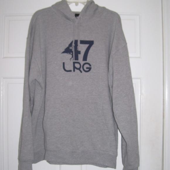 "Lrg Other - LRG Gray ""Tree"" Logo HOODIE *Kangaroo Pocket*"